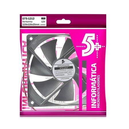 Micro Ventilador Cooler Ventoinha 120x120x25mm 1900Rpm 12V 0.27A ChipSCE