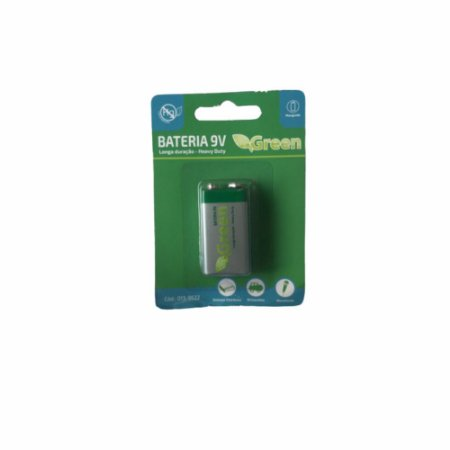 Bateria 9V Alcalina 6f22 Manganes Heavy Duty Green
