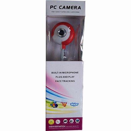 Webcam Pc Câmera Haste Flexível Microfone Embutido 15 Megapixels 30 Fps