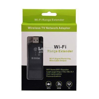 Adaptador Usb Wireless TV Wi-Fi Ranger Extender WPS 300 Mbps