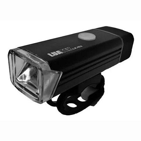 Laterna Para Bicicleta MicroUSB Bateria Recarregável Prova D'água Luatek LK-002