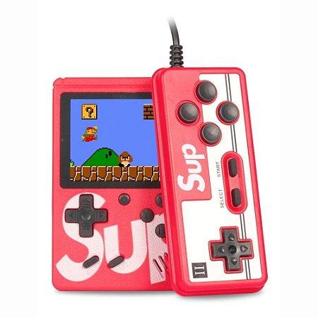 Mini Game Portátil 500 Jogos Na Memória Super Console Com Controle Retro Sup