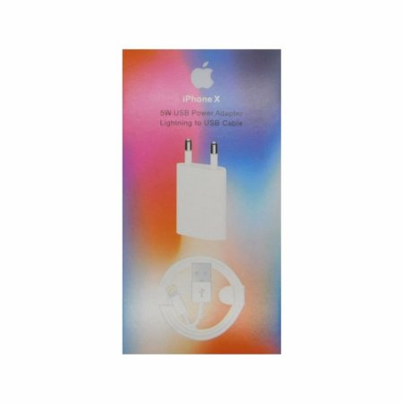 Carregador Iphone X Lightning USB Com Cabo e Caixa