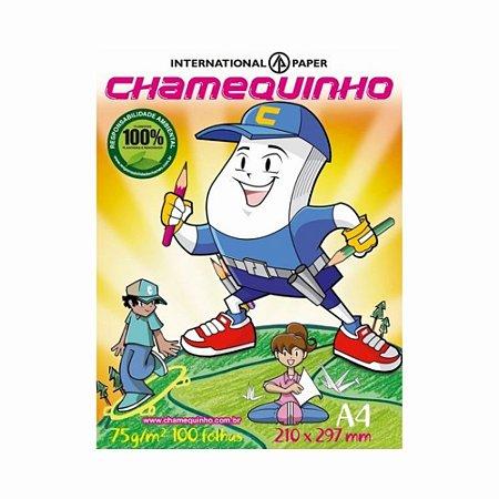 Papel Sulfite Chamequinho A-4 Marfim 100 Folhas