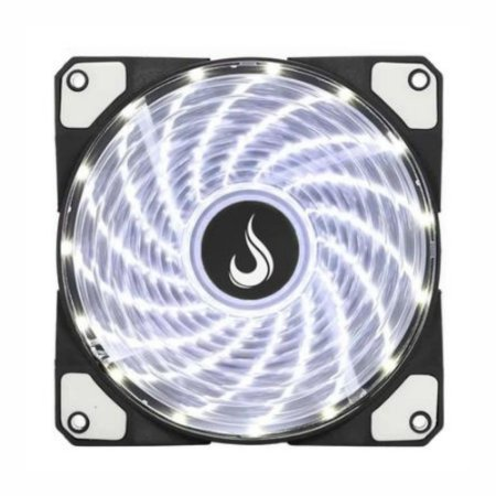 Cooler Fan Rise Mode Wind W1, 120mm LED Branco RW-WN-01-BW