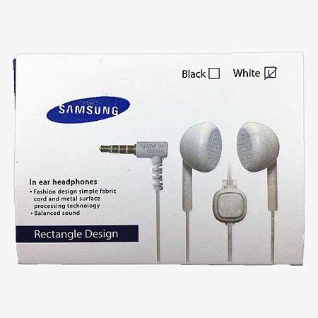 Fone De Ouvido Samsung Design Retangular Ear Headphones Estéreo