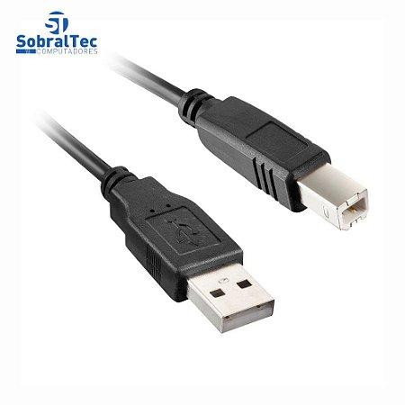 Cabo Para Impressora USB 2.0 AM+BM OD4.8 2M Com Filtro Exbom CBX-U2AMBM20