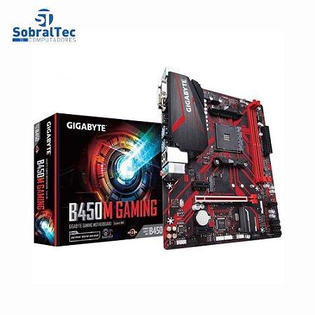 Placa Mãe Gigabyte B450M Gaming Ddr4 mATX Socket Am4 Chipset Amd B450