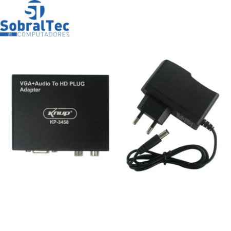 Adaptador Conversor De Sinal  VGA Para HDMI Knup KP-3458