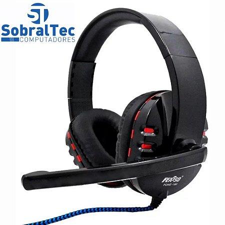Headphone Headset Gamer Com Microfone P2 Cabo 2,20m Feasso Fone-160