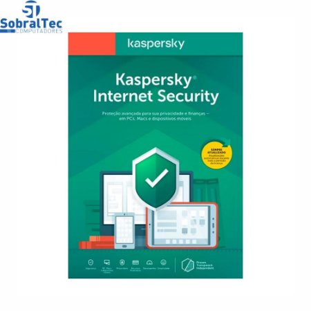 Licença Antivirus Kaspersky Internet Security KIS Key De 1 Ano 1 Dispositivo