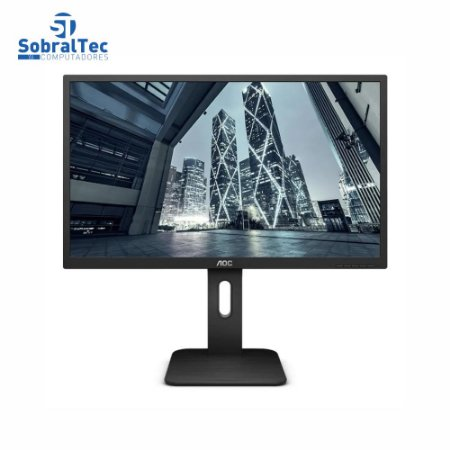 Monitor AOC LED 18.5 Widescreen HDMI VGA Display Port 2ms Altura Ajustável 9P1E