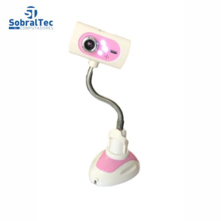 Webcam Pc Camera De Mesa Com Leds e Microfone 480p USB 2.0 Foco Manual 15Mp F-19