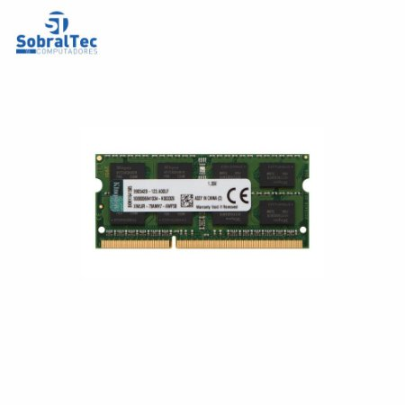 Memória Ram Notebook 8Gb Ddr3L Kingston 1333 Kvr16ls11/8 Low 1.35v