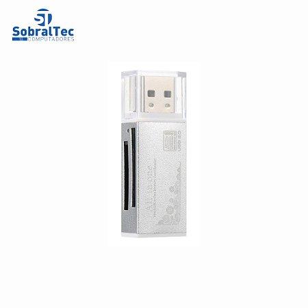 Adaptador Usb 2.0 All In One Leitor De Cartão SD MMC SDHC TF
