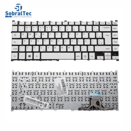 Teclado Notebook Compativel Com Samsung Np500r4k Np500r4l 500r4k - White - BR - No Frame