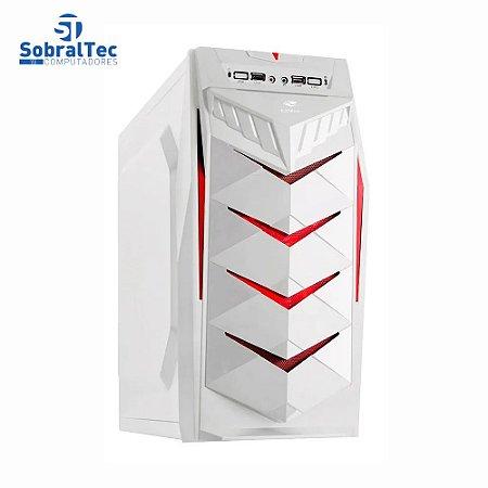 Gabinete Gamer Atx Mid Tower Branco Sem Fonte C3tech Mt-g70wh