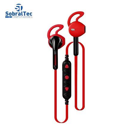 Fone De Ouvido Bluetooth Intra-Auricular Vermelho Bt5.0 C3plus Ep-tws-10rd