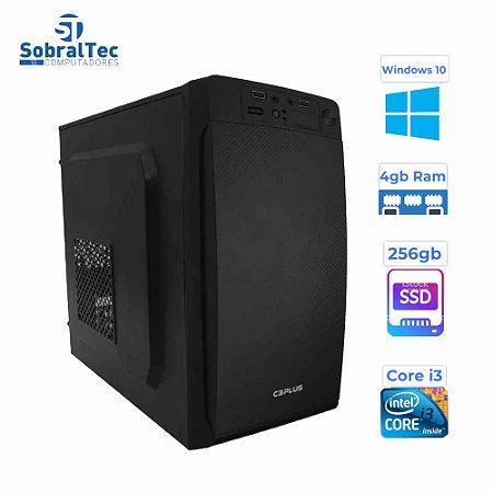 Computador Core i3-3240 HD SSD 256GB Memória Ram 4GB Moczi Gabinete C3Tec Pr 1858