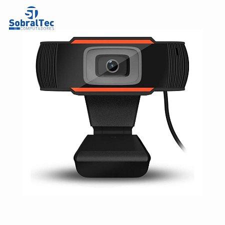 Webcam Full HD 1080 Pixels USB 2.0 Com Microfone Embutido Plug And Play