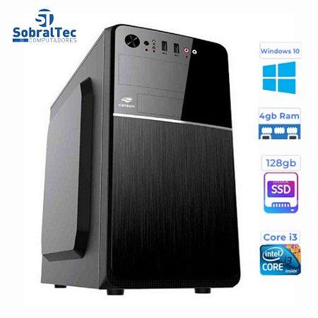 Computador Core i3- 3220- Gaginete Micro-Atx HD SSD 128GB- Memória Ram 4GB- Windows 10 e Antivirus