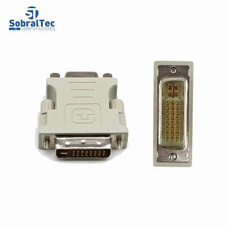 Adaptador Conversor DVI-I 24+5 Macho x VGA Fêmea Para Pc, Notebook, Placas De Vídeo