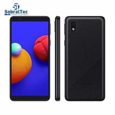 """Smartphone Samsung Galaxy A01 Core 32GB Preto Quad-Core 2GB RAM Tela 5,3"""" Câm. 8MP + Selfie 5MP"""