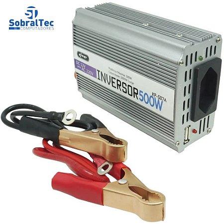 Inversor De Energia Veicular 12V Para AC220v 500w Knup 507a