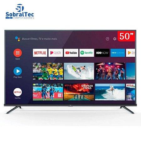 "Smart TV 4K LED 50"" SEMP TCL 50P8M Android Wi-Fi Bluetooth HDR Inteligência Artificial 3 HDMI 2 USB"