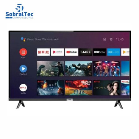 """Smart TV LED 40"""" SEMP TCL 40S6500 Full HD Android - Wi-Fi HDR Inteligência Artificial 2 HDMI USB"""