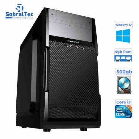 Computador Core i3- 3220- Gaginete Micro-Atx Mt-25V2BK-HD 500GB - Memória Ram 4GB-1333