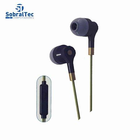 Fone De Ouvido Para Smartphone P2 Com Microfone IT BLUE LE-0235