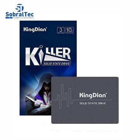 HD SSD Kingdian 128Gb Solid State Driver 2.5 Sata3 Leitura 550Mb/s Escrita 400Mb/s Killer S370