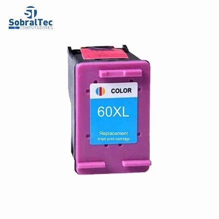 Cartucho De Tinta 60XL Color Compatível Com Hp Deskjet 60 Colorido C4680 10Ml