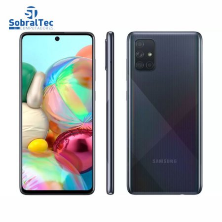 Smartphone Samsung Galaxy A71, 128GB, 32MP, Tela de 6.7´, Preto - SM-A715FZKPZTO