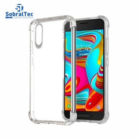 Capa Silicone TPU Transparente Borda Anti Impacto Anti-Shock Samsung Galaxy A01