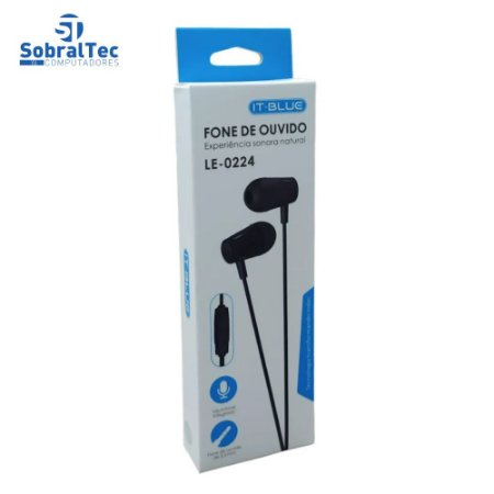 Fone De Ouvido Para Smartphone P2 Com Microfone IT BLUE LE-0224