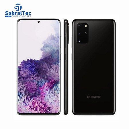 """Smartphone Samsung Galaxy S20+ Preto 128GB, 8GB RAM, Tela Infinita de 6.7"""", Câmera Traseira Quádrupla, Câmera Frontal 10"""