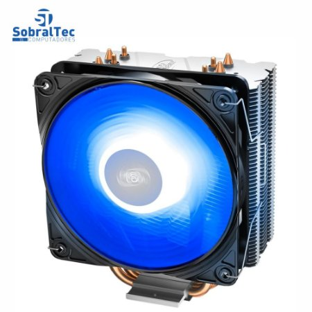 Cooler FAN DeepCool Gammaxx 400 V2, 120mm, LED Azul, Branco - DP-MCH4-GMX400V2-BL