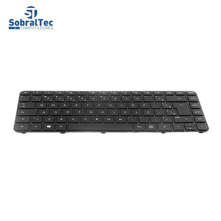 Teclado Notebook Compativel Com Hp Pavilion 14-B -Preto - Br -Com Frame