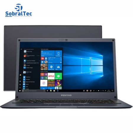 Notebook Positivo Motion Plus Q464B Intel - Quad Core 4GB eMMC 64GB + 64GB Nuvem 14