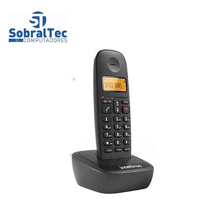 Telefone Sem Fio TS 2510 PT Com Identificador de Chamadas Intelbras