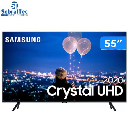 "Smart TV Crystal UHD 4K LED 55"" Samsung - 55TU8000  Borda Ultrafina Wi-Fi Bluetooth HDR 3 HDMI 2 USB"