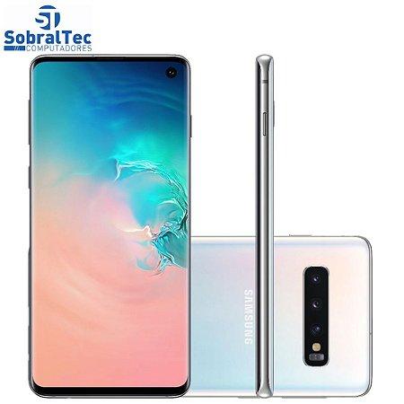 "Smartphone Samsung Galaxy S10 Branco 128GB - Dual Chip Android Tela 6.1"" Câmera Tripla 12MP+12MP+16MP Octa-Core 2.7GHz"