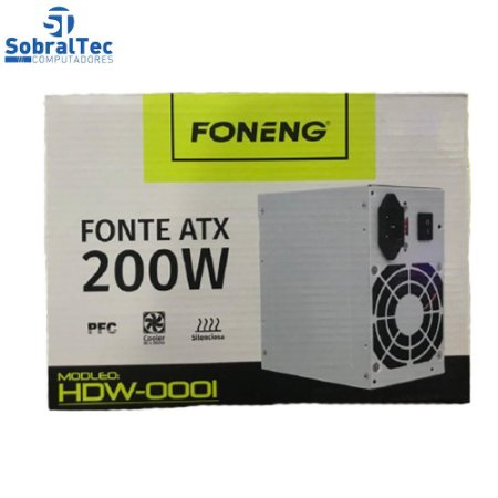 Fonte de Alimentacao ATX Para PC - HDW-0001- FONENG