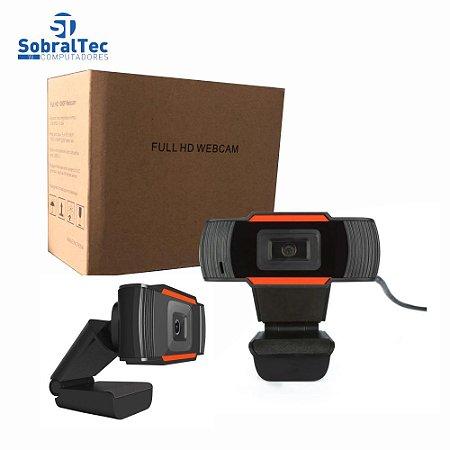Webcam Full HD 1080 Pixels USB 2.0 Com Microfone Embutido Plug And Play AOSAIDI