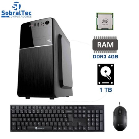 Computador Core i3- 3220- Gaginete Micro-Atx Mt-24V2BK-HD 1TB - Memória Ram 4GB Com Teclado e Mouse