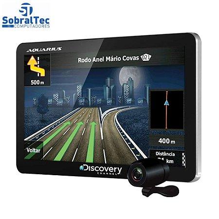 """GPS Automotivo Aquarius Guia Quatro Rodas Slim Tela 4.3"""" Touch Screen"""