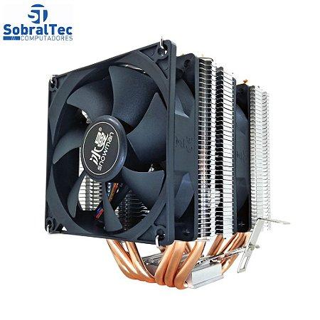 Cooler FAN Gamer  Azul Para Processador Intel e AMD M-X6 Boneco De Neve
