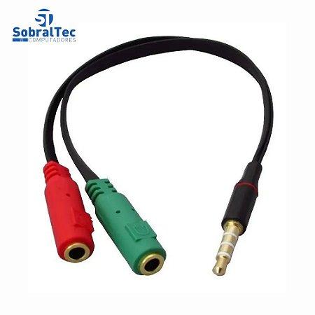 Cabo Adaptador P3 (p2 Combo) Para Fone E Microfone - Xtrad XT- 3M4G